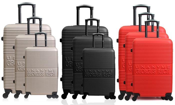 Groupon Goods Global GmbH: 3-teiliges Koffer-Set Georges Rech in der Farbe nach Wahl (82% sparen*)