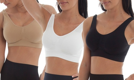 Three £8.99 or Six £13.98 Padded Seamless Bras
