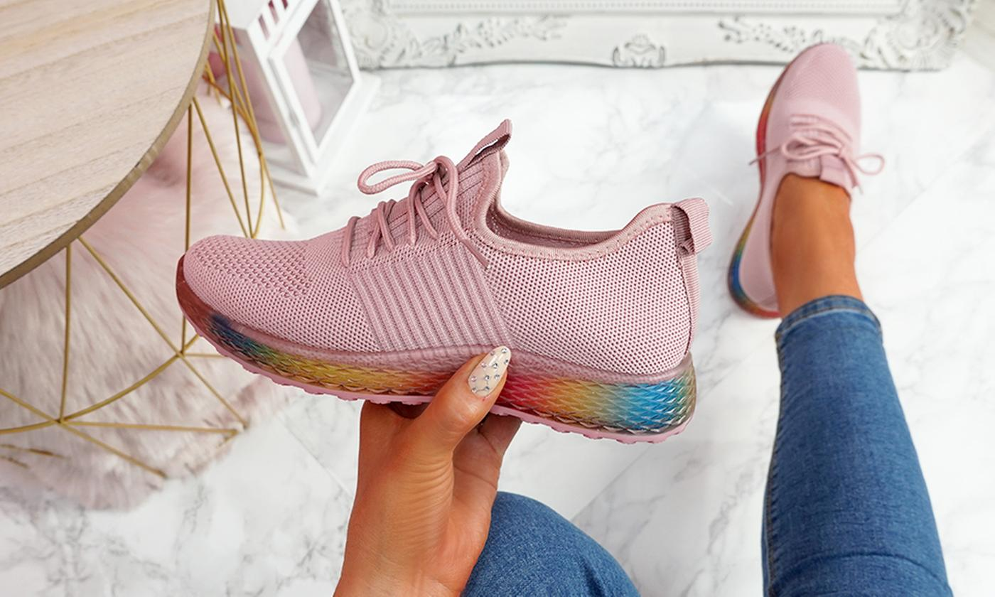 Women's Rainbow Sole Trainers