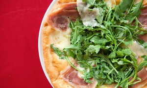 Pizza Nea: $26.50 for Neapolitan Pizza for Two with Wine or Beer, Valid Monday–Thurs, at Pizza Nea (Up to $43 Value)