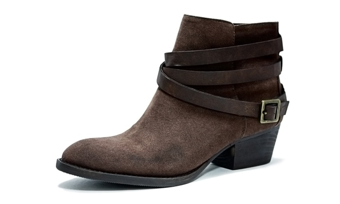 Groove Hudson Women's Strappy Ankle Boots (Size 5) | Groupon