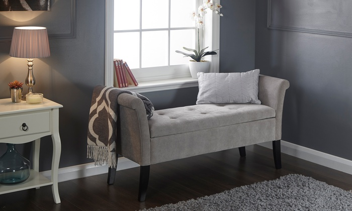 Buttoned Window Seat with Storage from £99 With Free Delivery