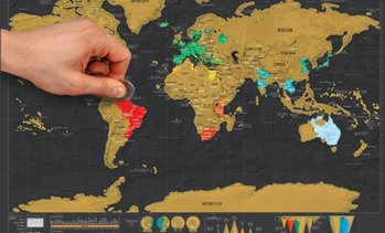 Scratch-Off Visited Countries Map