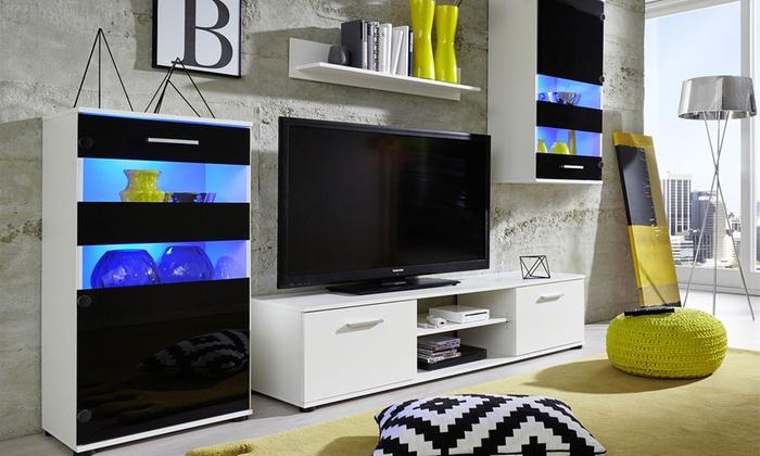 Meuble Tv Mural Brillant Polo Groupon Shopping