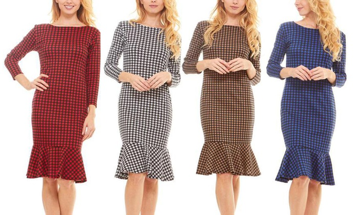 Up To 64% Off on Women\'s Knee Length Dress   Groupon Goods