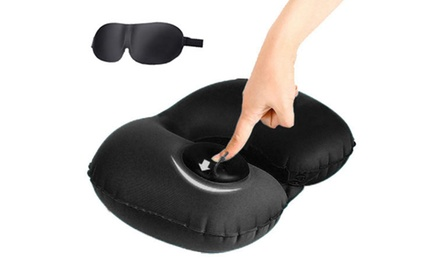 Travel Kit with U-Shape Inflatable Neck Pillow and Eye Mask: One ($19), Two ($29)