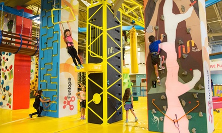 One-Hour or Daily Unlimited Fun Zone Pass at Funtopia Glenview (Up to 45% Off). Five Options Available.