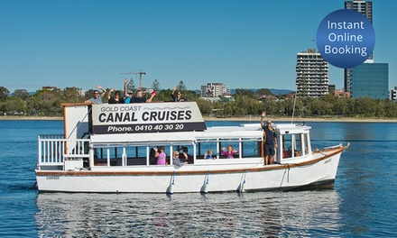 2Hour Cruise with Food and Drink or 2 People with Gold Coast Canal Cruises Value