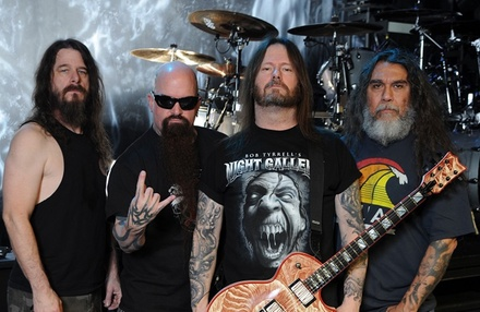 Slayer with Lamb of God, Anthrax, Behemoth, and Testament on Friday, May 25, at 5 p.m.