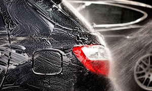 "Premier Car Wash: One or Three ""The Works"" Car Washes with RainX and Rainbow Shine Waxes at Premier Car Wash (Up to 40% Off)"