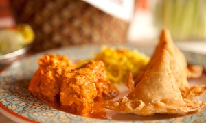 Royal Crown Indian Restaurant: 3-Course Indian Meal with Drinks for 2 ($35) or 4 People ($59) at Royal Crown Indian Restaurant (Up to $173 Value)