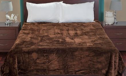 Lavish Home Thick Plush Blanket