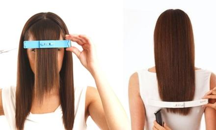 1 o 2 pinzas con nivel para cortar flequillo y / o cabello en casa