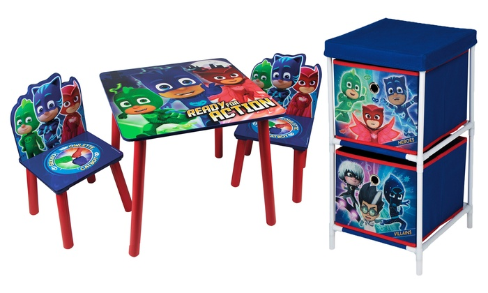 PJ Masks Children's Set of Table and Chairs and Two-Drawer Storage Chest (£9.59)