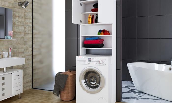 Waschmaschinenschrank jaiden hochschrank badregal