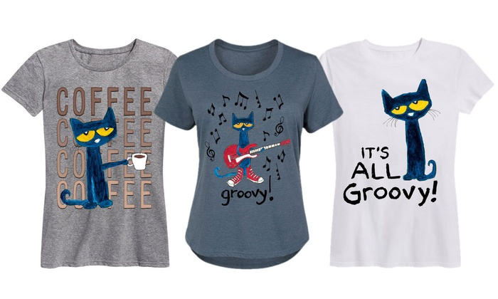 98460c4f37205c Women s Licensed Pete The Cat Tees. Plus size Available.