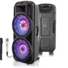Technical Pro Wireless Bluetooth Speaker with Lights and Microphones