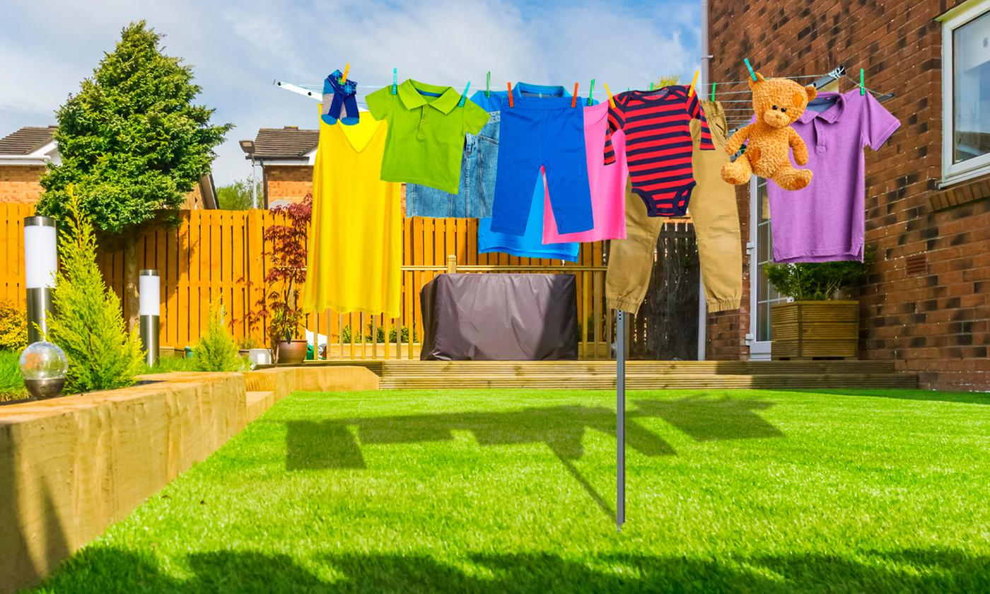 One or Two Outdoor Rotary Clothesline