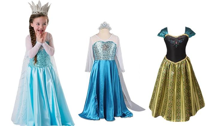 Costume da principessa per bimbe disponibile in 2 colori e varie taglie a 16,99 €