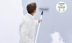 Novo Visual Pinturas: Novo Visual Pinturas: pintura de 50, 100, 200 ou 500 m² de teto e parede + tinta e massa corrida
