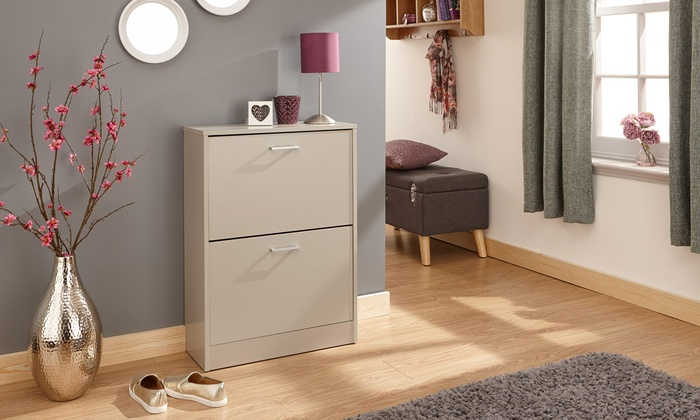 Two- or Three-Tier Stirling Shoe Cabinet in Choice of Four Colours