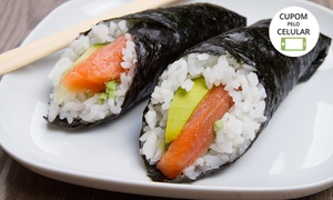 Dragon Z Sushi: 2 ou 4 temakis + 1 ou 2 long necks no Dragon Z Sushi – Planalto
