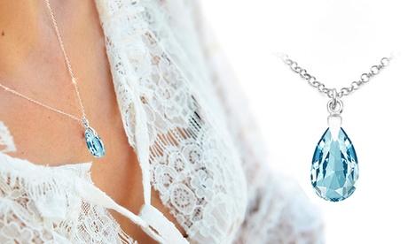 1, 2 ou 3 colliers de poire en argent sterling de la marque Ah! Jewellery® avec cristaux de Swarovski®