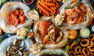 One Fresh Seafood Package for Two, Four, or Six People at The Boil Bar