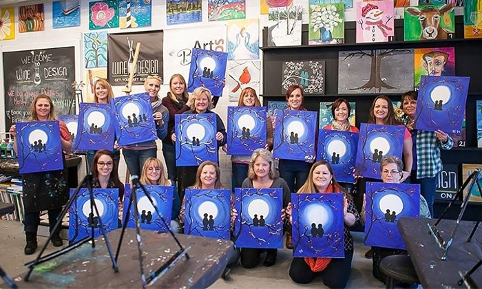 Wine and Design  - Oyster Point: Two-Hour Painting Class at Wine and Design (Up to 46% Off)