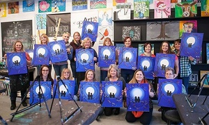 Wine and Design : Two-Hour Painting Class at Wine and Design (Up to 46% Off)