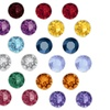 Rhodium Plated Birthstone Stud Earrings with Crystals from Swarovski by Pink Box