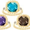4.20 CTTW Gemstone Rings with Swarovski Elements
