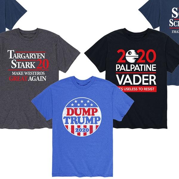 Mens Trump 2020 T-Shirt Funny Running Round Neck Short Sleeve Tees Tops