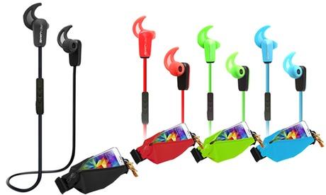RevJams Active or Active Pro Wireless Bluetooth Earbuds with Matching Running Belt 60110a9a-e7fb-11e6-bfdd-00259060b5da