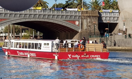 1Hr Melbourne Sightseeing Cruise for Child $6, Adult $15 or Family $39 with Yarra River Cruises Up to $60 Value