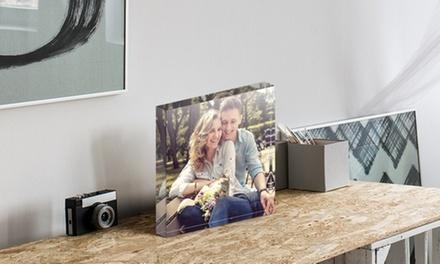 1 of 2 foto's in een blok van plexiglas, online te bestellen bij Photo Gifts