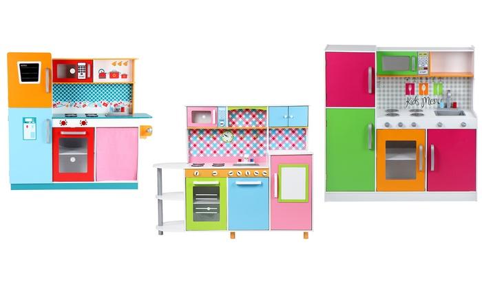 Cucina giocattolo in legno groupon - Cucine per bambine ...