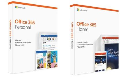 Microsoft Office 365 voor pc en Mac inclusief McAfeeantivirus