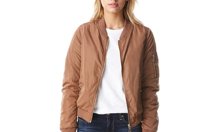 Women's Double-Layer Bomber Jacket (Size M)