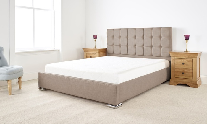Textured Linen Bed Frame with Optional Mattress from £169