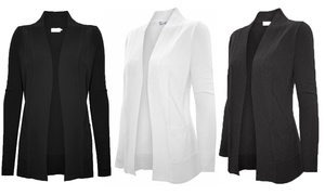 Women's Open-Front Long-Sleeve Cardigan (2-Pk.). Plus Sizes Available.