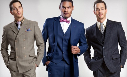 One Standard, Premium, or Ultra Premium Custom Three-Piece Suit from Catou (Up to 62% Off)