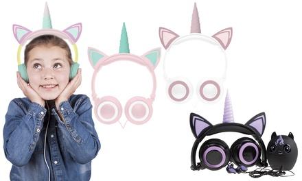 GabbaGoods Unicorn LED Light-Up Headphones or 3-piece Gift Set