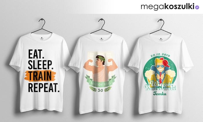 181e1fca5a03a4 Koszulka z nadrukiem na Dzień Chłopaka - Megakoszulki.pl   Groupon