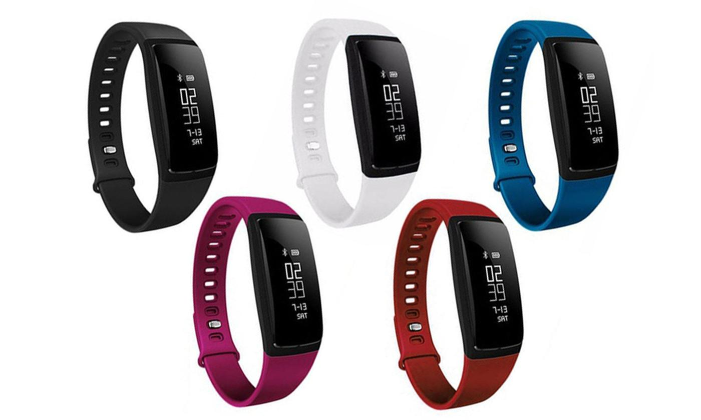 Save 79% on  Fitness Activity Tracker with Blood Pressure and Heart Rate Monitor (V7)