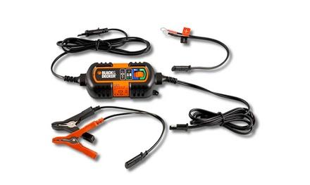 Cargador de batería para coche/moto 6V-12V Black & Decker