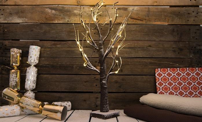 Albero natalizio innevato con LED da 60 cm a 19,90 € (57% di sconto)
