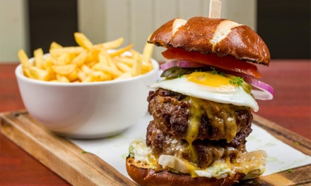 Burger or Hot Dog with a Side and Soft Drink for Up to Four at East Coast Social (Up to 58% Off)