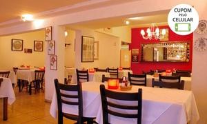 Porto Jardim Restaurante: Couvert + prato principal + sobremesa (opção com taça de vinho) no Porto Jardim Restaurante – Santo André