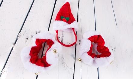 Set de sombrero y collar de Navidad para mascotas por 4,90 € (68% de descuento) con envío gratuito